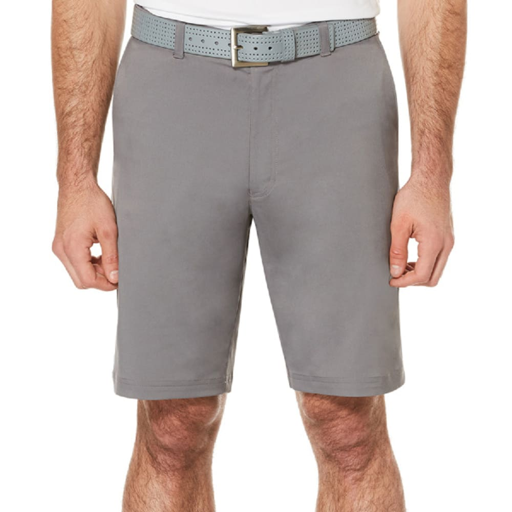 PGA TOUR Men's Flat-Front Active Golf Shorts - QUIETSHADE- 039