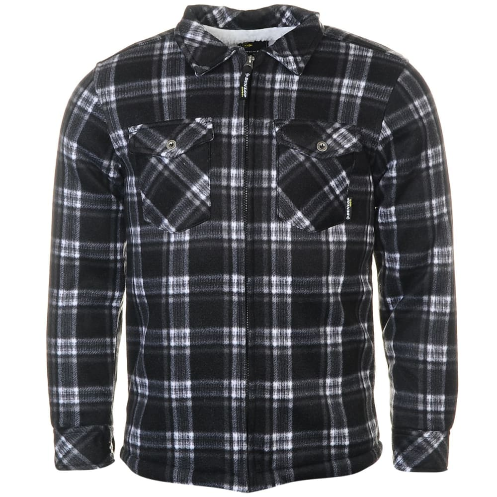 DUNLOP Men's Check Full-Zip Work Shirt - BLACK