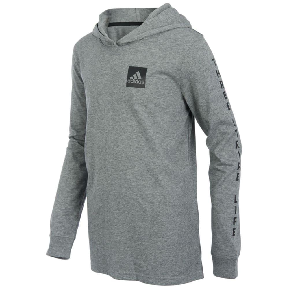 Adidas Big Boys' Branded Sleeve Pullover Hoodie - Black, S
