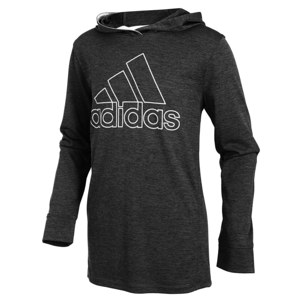 ADIDAS Big Boys' Coast to Coast Hooded Pullover - ADI BLACK HTHR-AK01H