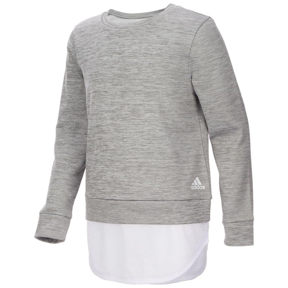 Adidas Big Girls' Dual Long Sleeve Sweatshirt by Adidas Big Girls' Dual Long Sleeve Sweatshirt
