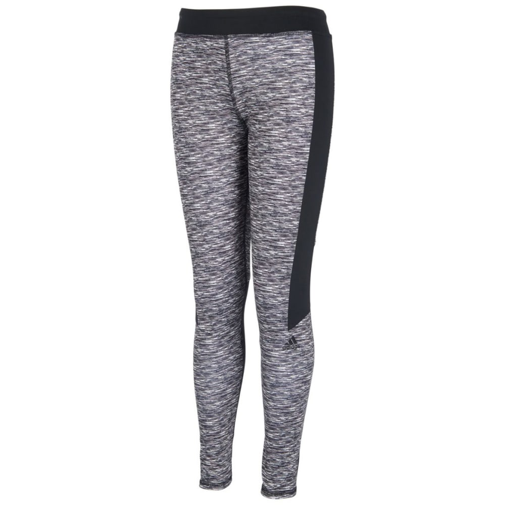ADIDAS Big Girls' Space-Dye Tights - GRY PRNT AP293