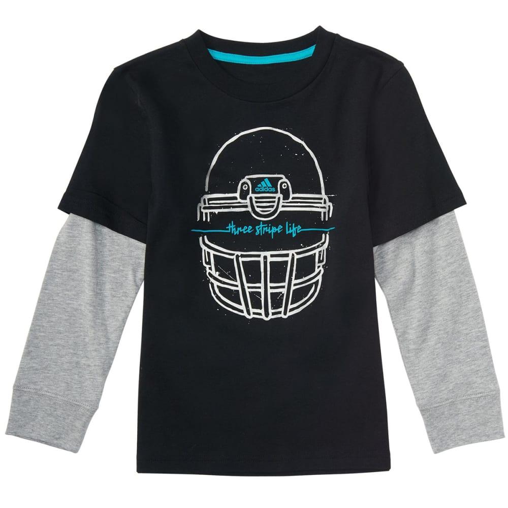 Adidas Little Boys' Helmet Long-Sleeve Tee - Black, 4
