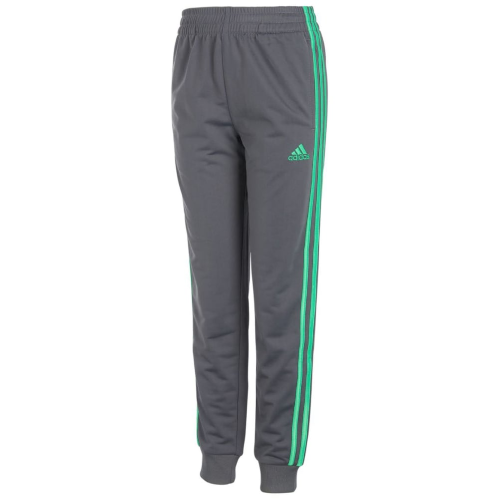 ADIDAS Little Boys' Impact Tricot Jogger Pants - GRY 5/V GRN AH41