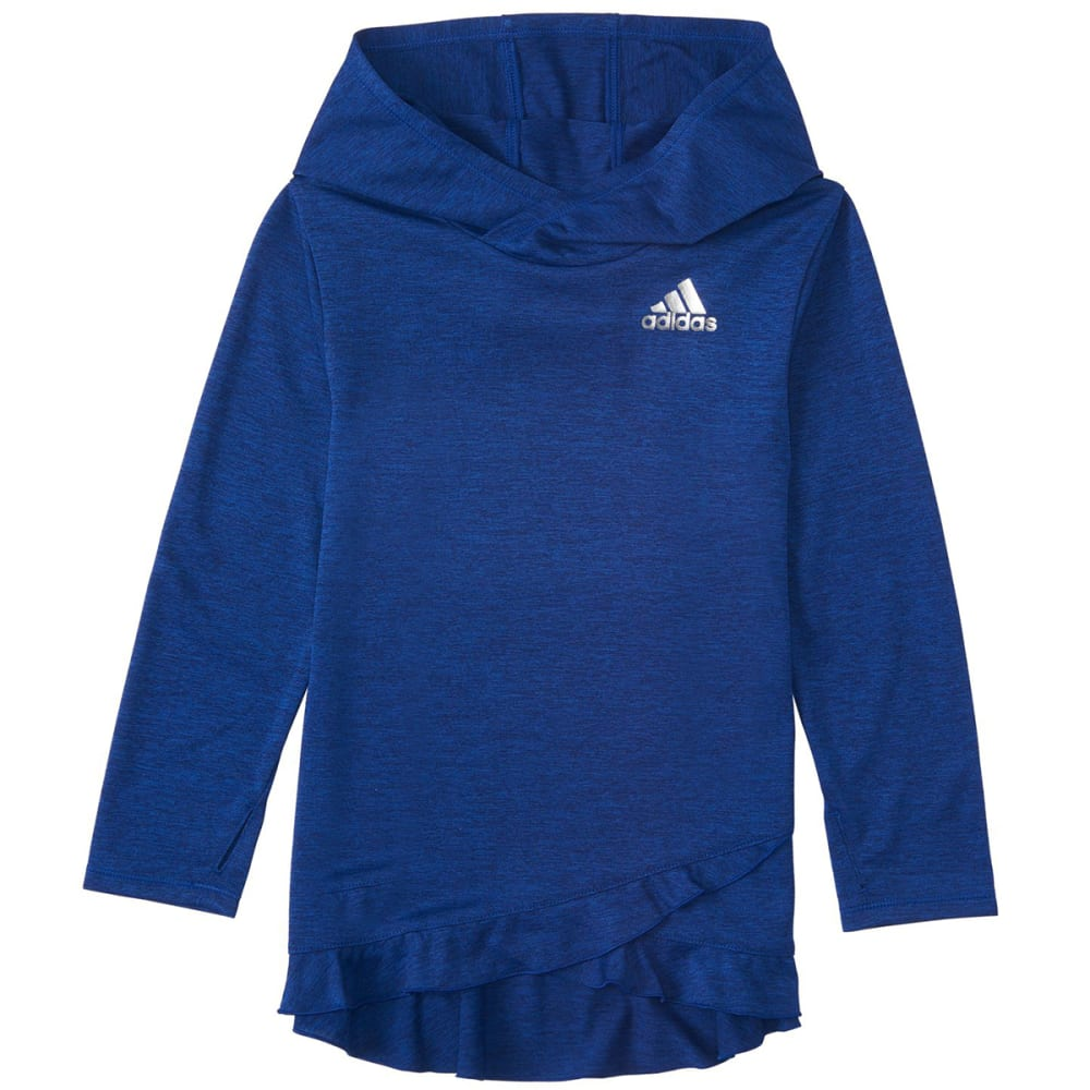 ADIDAS Little Girls' Melange Pullover Hoodie - MYST INK HTR AQ11H