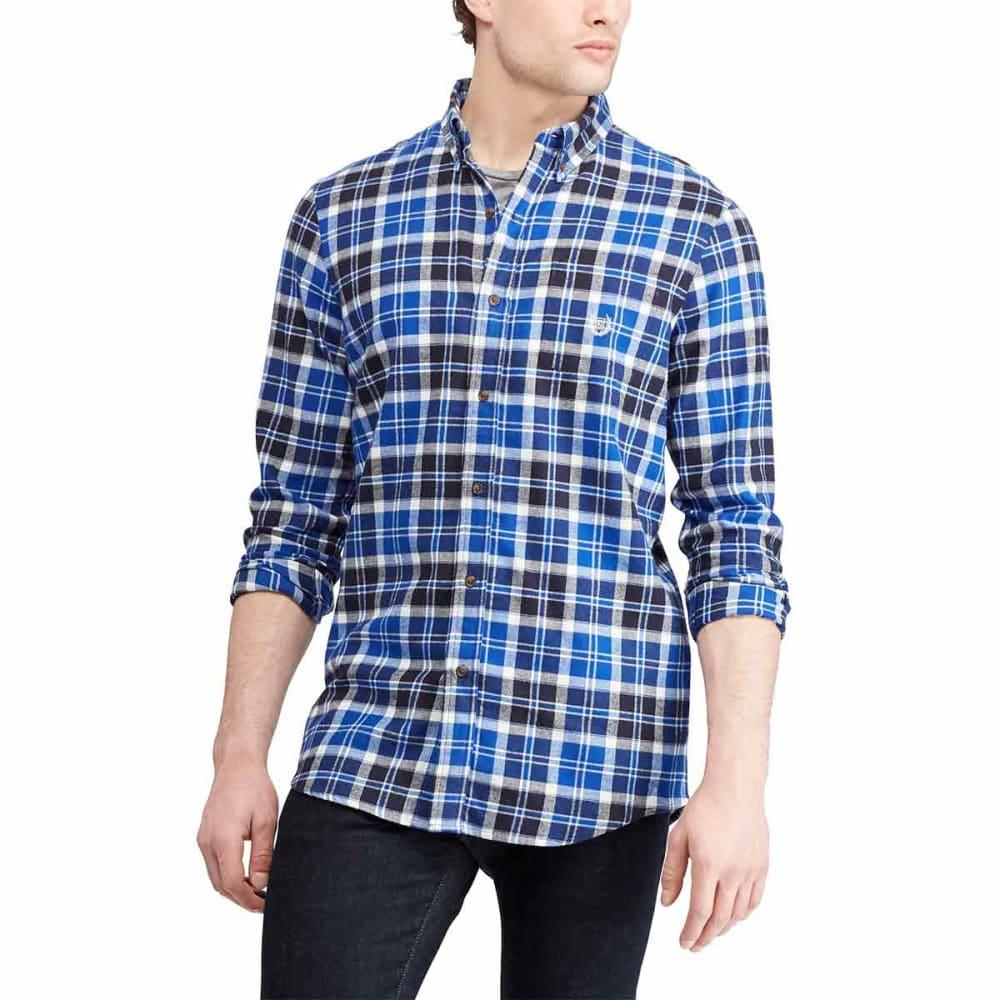 CHAPS Men's Plaid Long-Sleeve Flannel Shirt - SISTINEBLUE-003