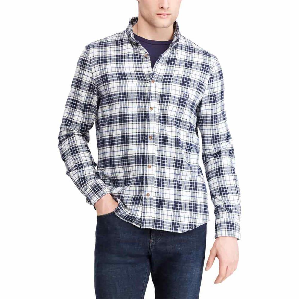 CHAPS Men's Plaid Long-Sleeve Flannel Shirt - WHITESANDPLAID-003