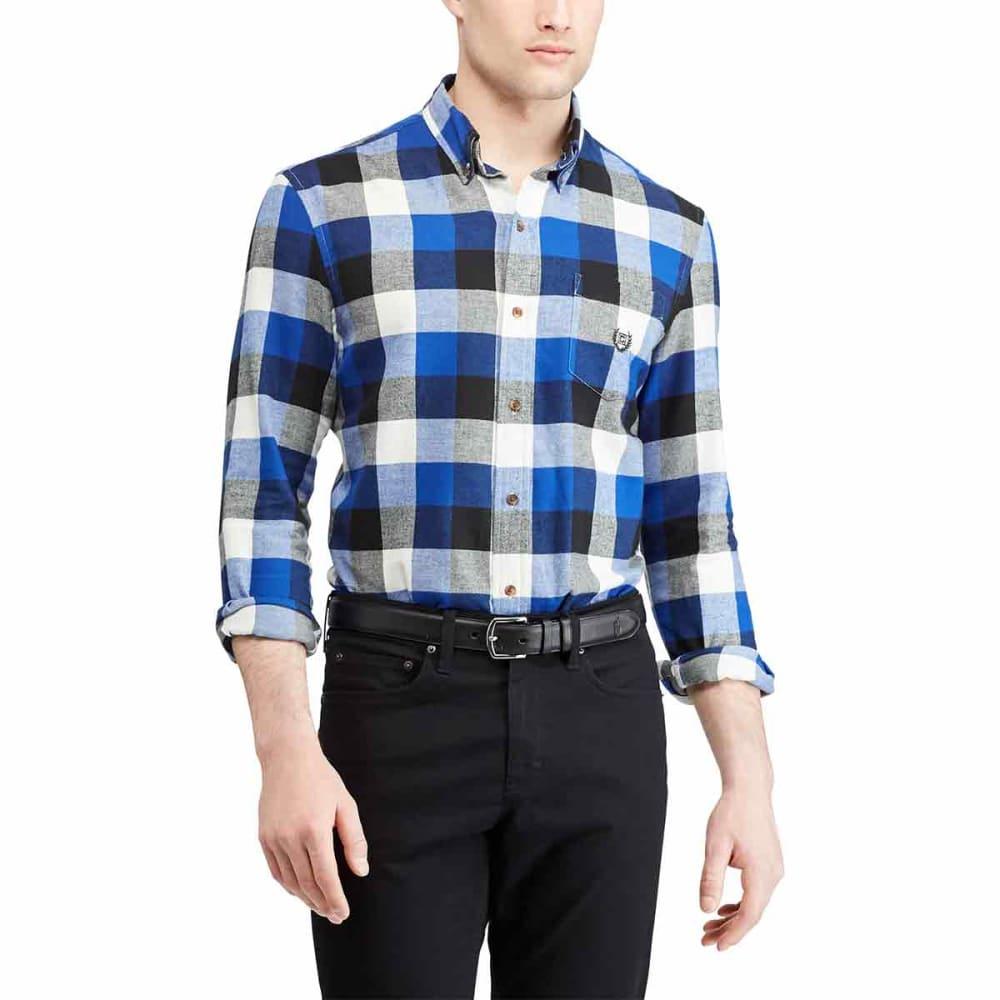 CHAPS Men's Plaid Long-Sleeve Flannel Shirt - SISTINEBLUE-002