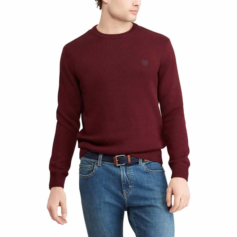 CHAPS Men's Cotton Crewneck Long-Sleeve Sweater - RICHRUBY-015