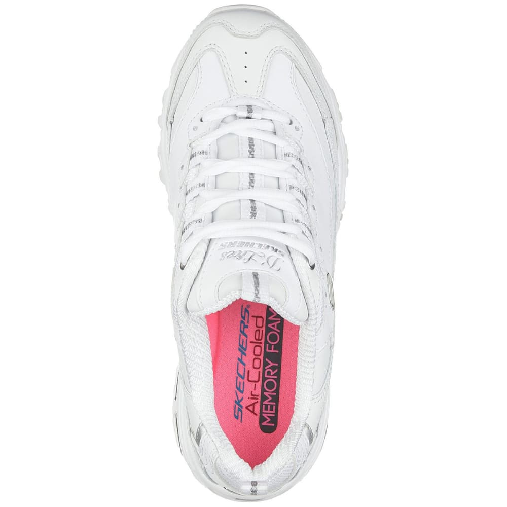 SKECHERS Women's D'Lites - Fresh Start Sneakers - WHITE-WSL
