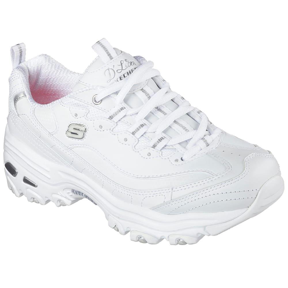 SKECHERS Women's D'Lites - Fresh Start Sneakers - WHITE-WSL