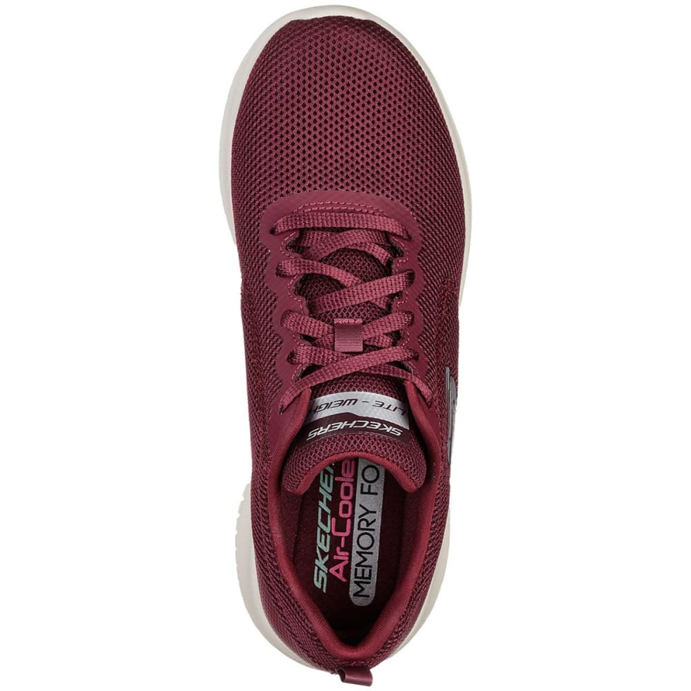 SKECHERS Women's Ultra Flex - Free Spirits Sneakers - BURGUNDY-BURG