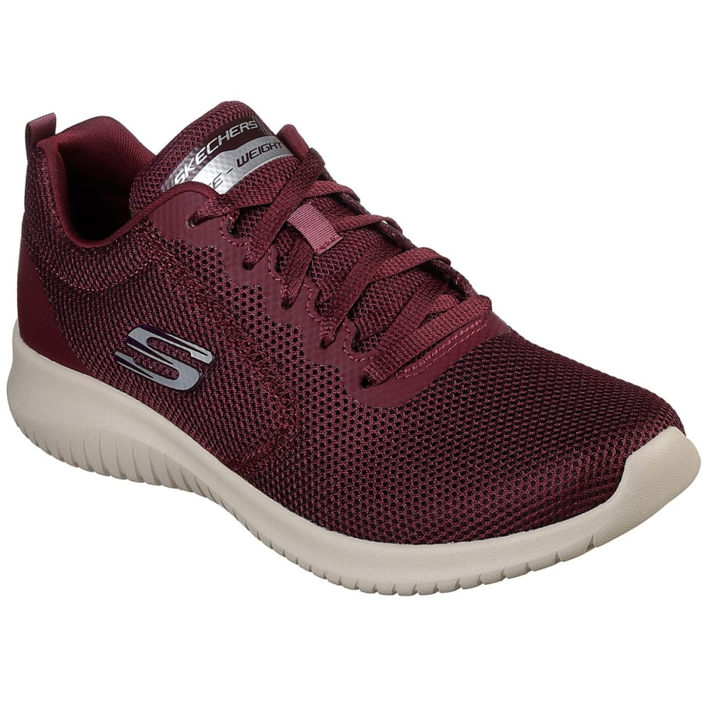 Skechers Women's Ultra Flex - Free Spirits Sneakers - Red, 6.5