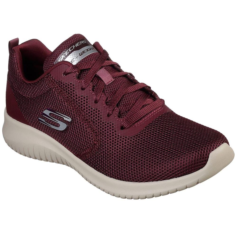 SKECHERS Women's Ultra Flex - Free Spirits Sneakers - BURGUNDY-BURG