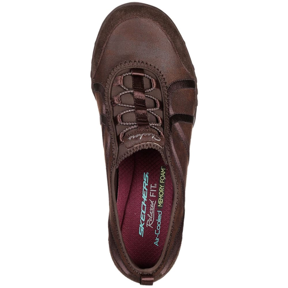 SKECHERS Women's Relaxed Fit: Breathe Easy - Flawless Look Sneakers - CHOCOLATE-CHOC