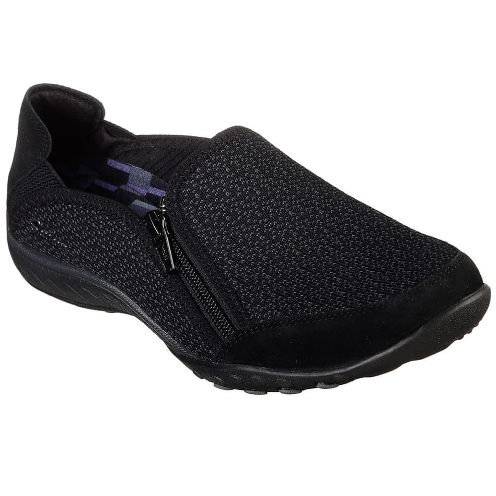 Skechers Women's Relaxed Fit: Breathe Easy - Quiet-Tude Sneakers - Black, 6