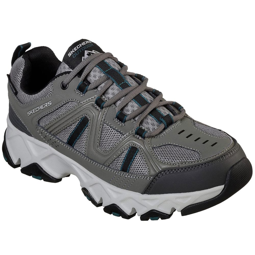 SKECHERS Men's Relaxed Fit: Crossbar Sneakers - GREY/BLACK-GYBK