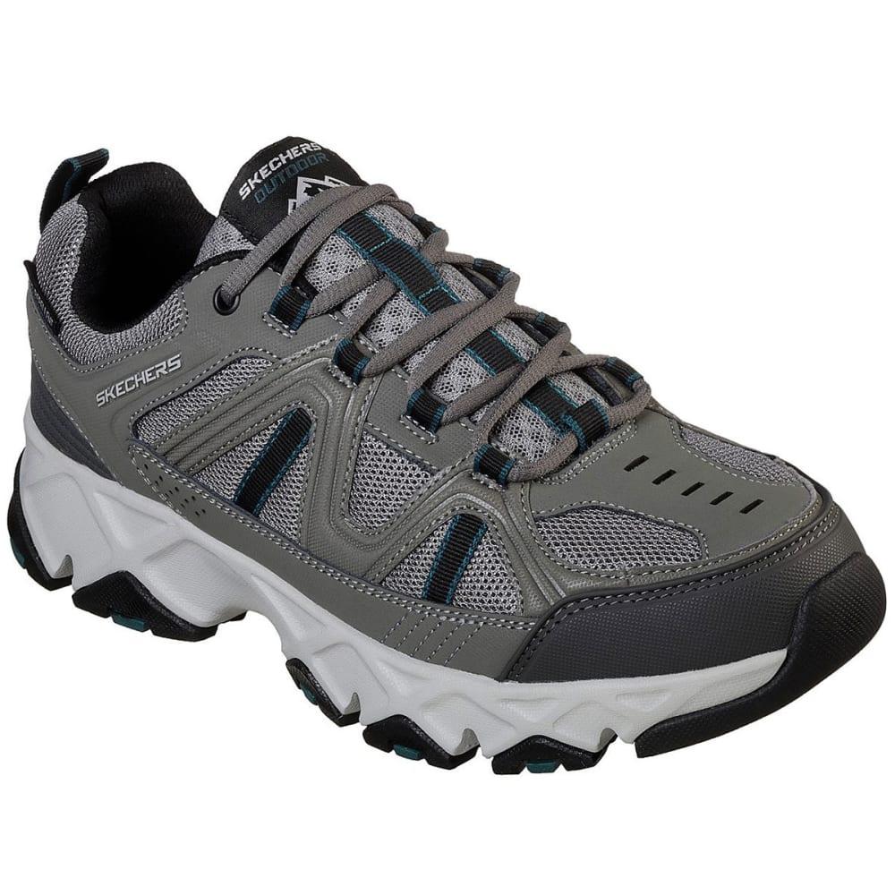 SKECHERS Men's Relaxed Fit: Crossbar Sneakers - GREY/BLACK-GYBK
