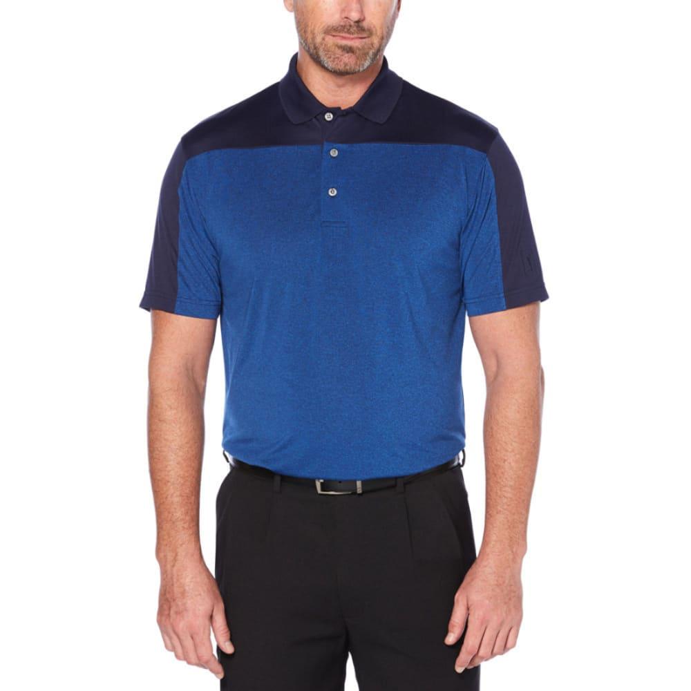PGA TOUR Men's Easy Care Pieced Short-Sleeve Polo Shirt - OLYMIAN/GREY-440