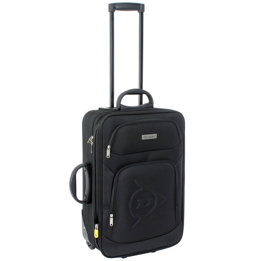 DUNLOP 22 in. Trolley Rolling Suitcase - BLACK