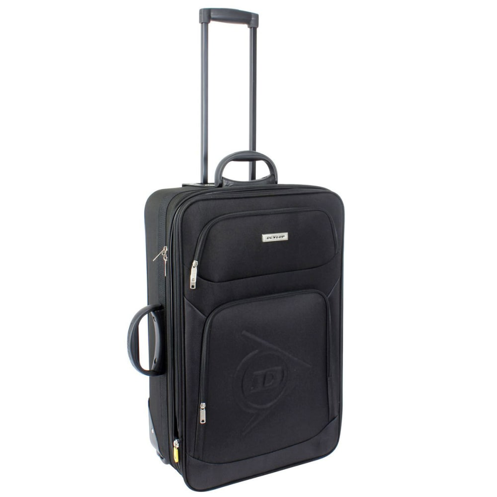 DUNLOP 26 in. Trolley Rolling Suitcase - BLACK