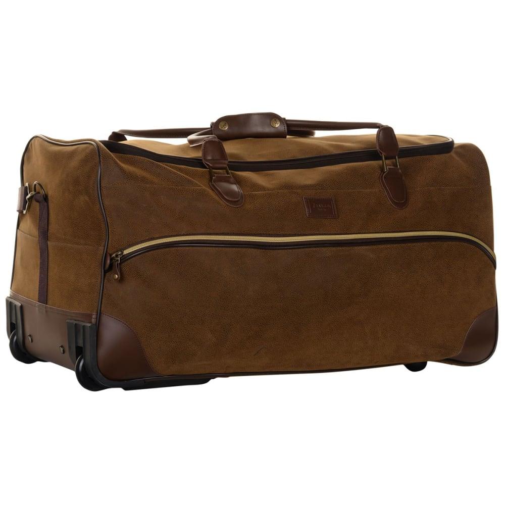 KANGOL 29 in. Chocolate Wheelie Rolling Duffel Bag - BROWN