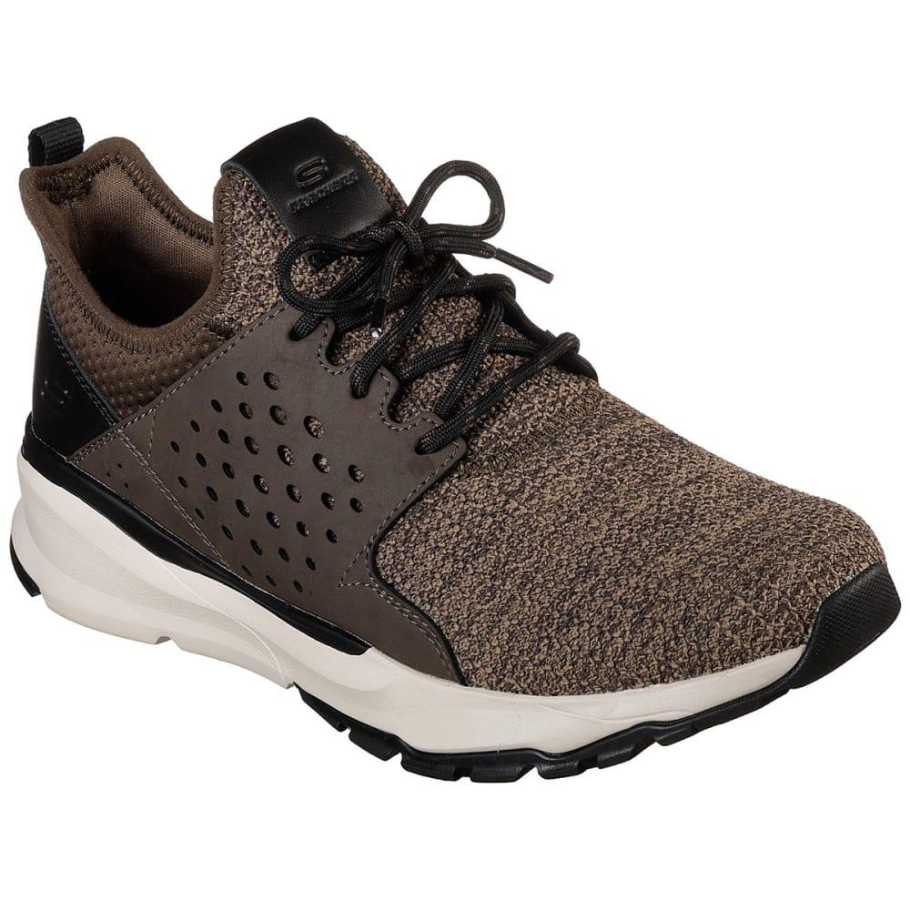Skechers Guys' Relven Velton Sneakers - Brown, 9.5