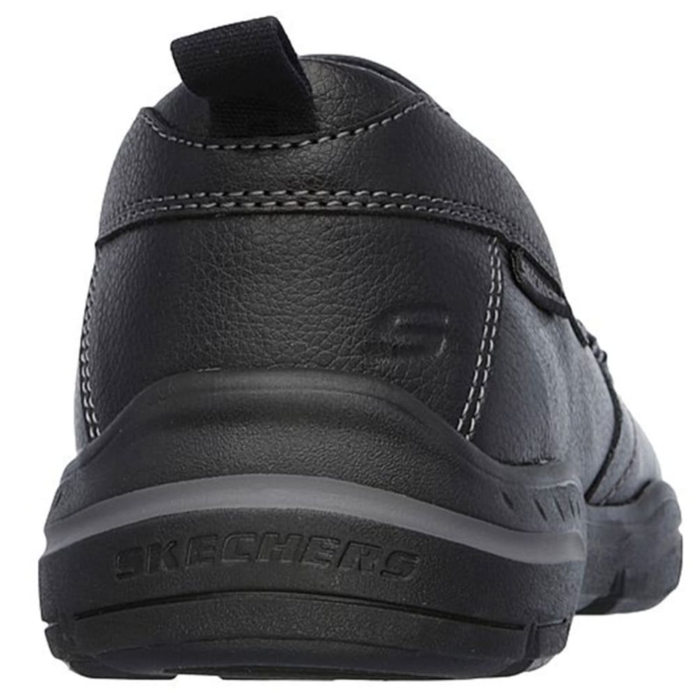 SKECHERS Men's Relaxed Fit: Harper – Forde Casual Slip-On Shoes - BLACK-BLK