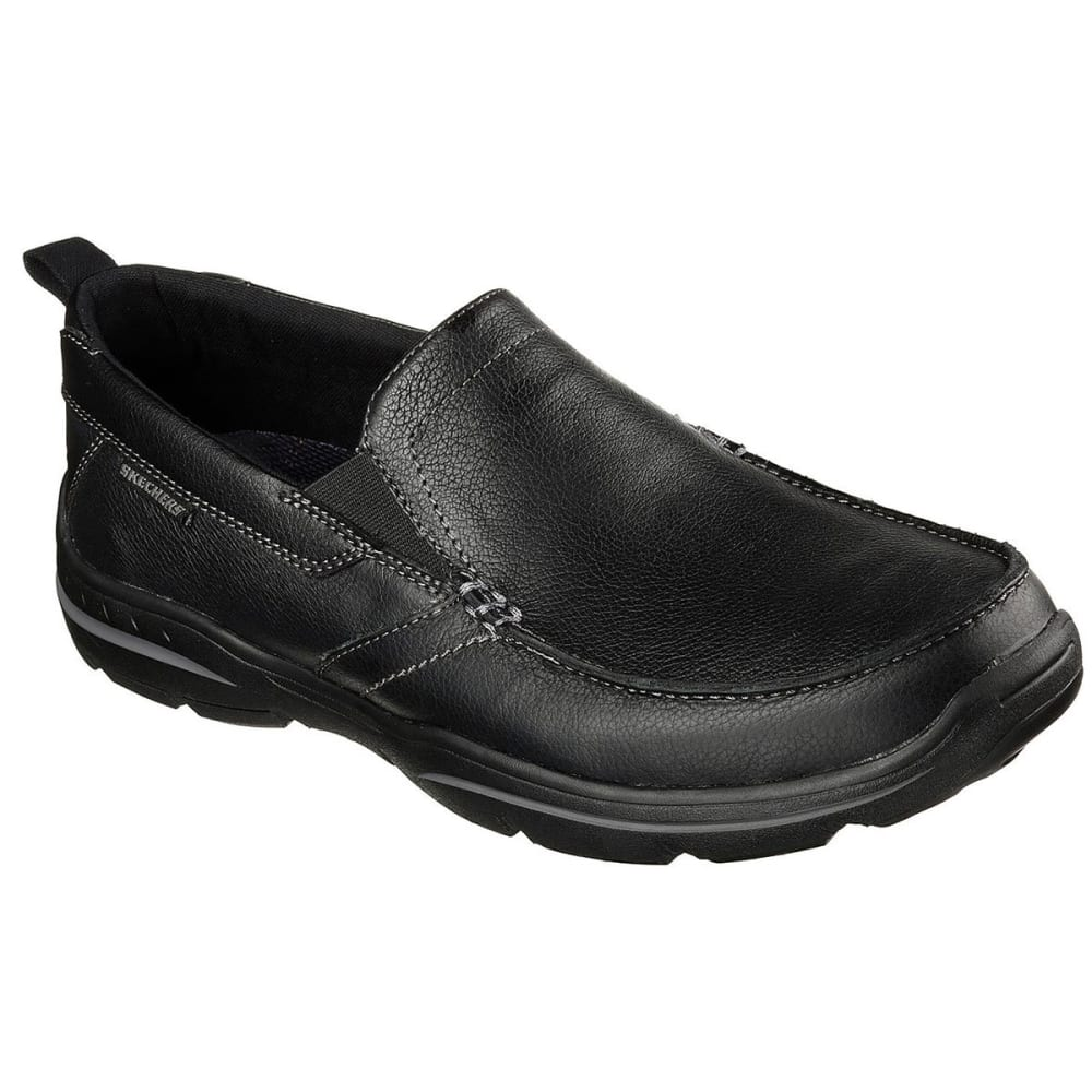 Skechers Men's Relaxed Fit: Harper - Forde Casual Slip-On Shoes - Black, 9