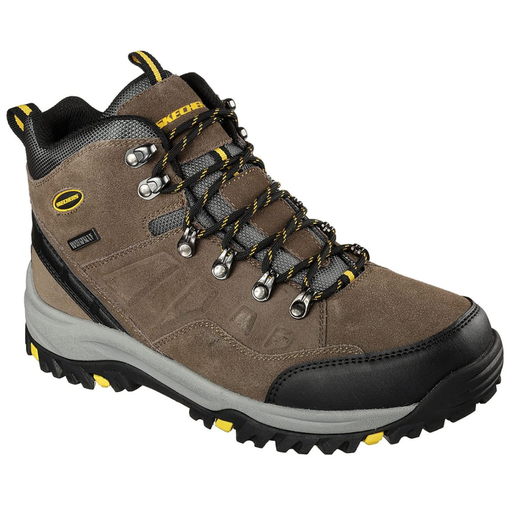 SKECHERS Men's Relaxed Fit: Relment – Pelmo Mid Waterproof Hiking Boots - KHAKI -KHK