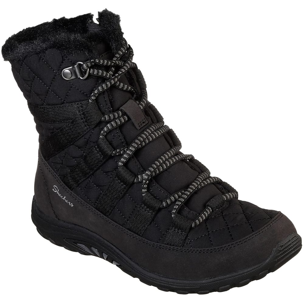 Skechers Women's Relaxed Fit: Reggae Fest - Moro Rock Winter Boots - Black, 6