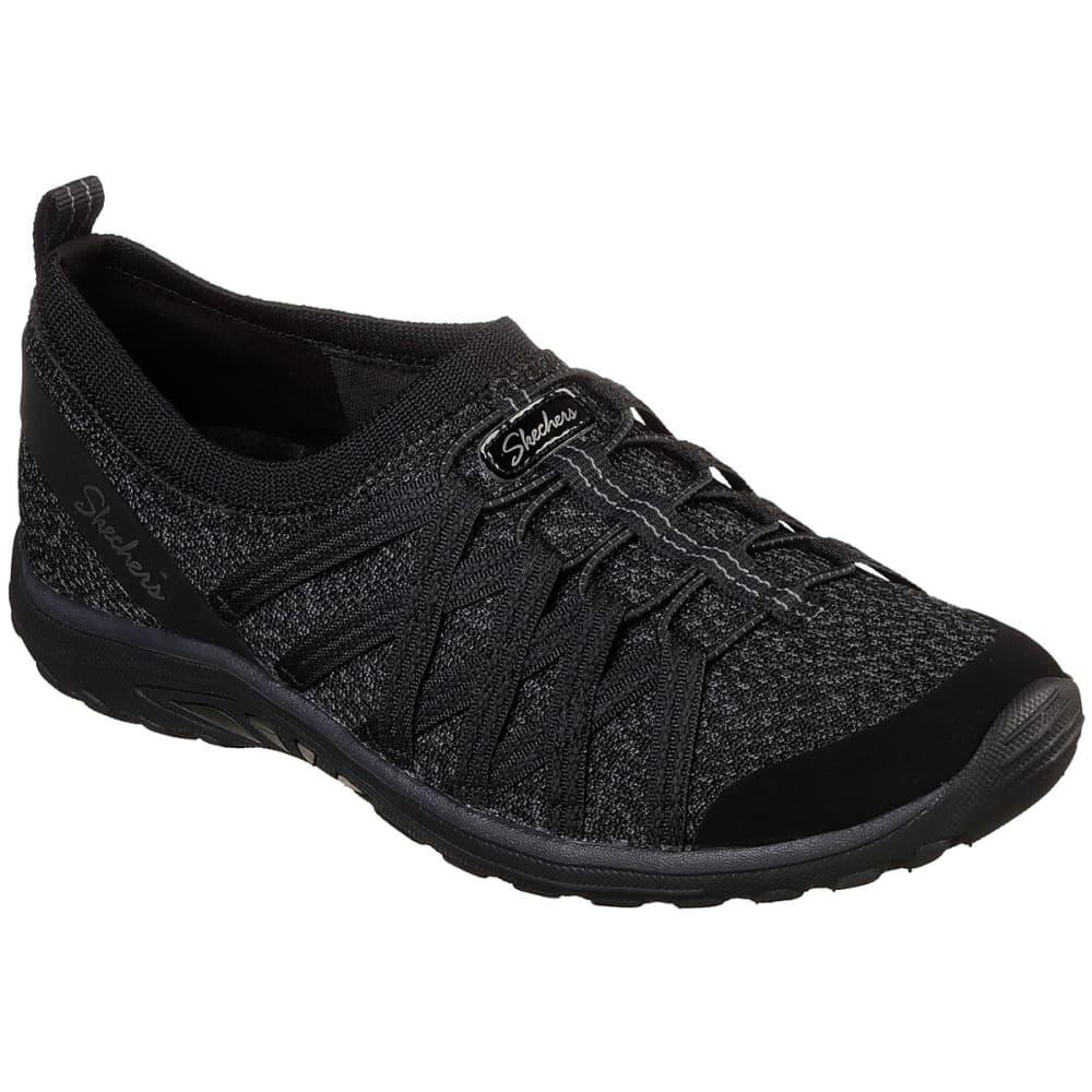 Skechers Women's Relaxed Fit: Reggae Fest Network Casual Slip-On Shoes - Black, 6