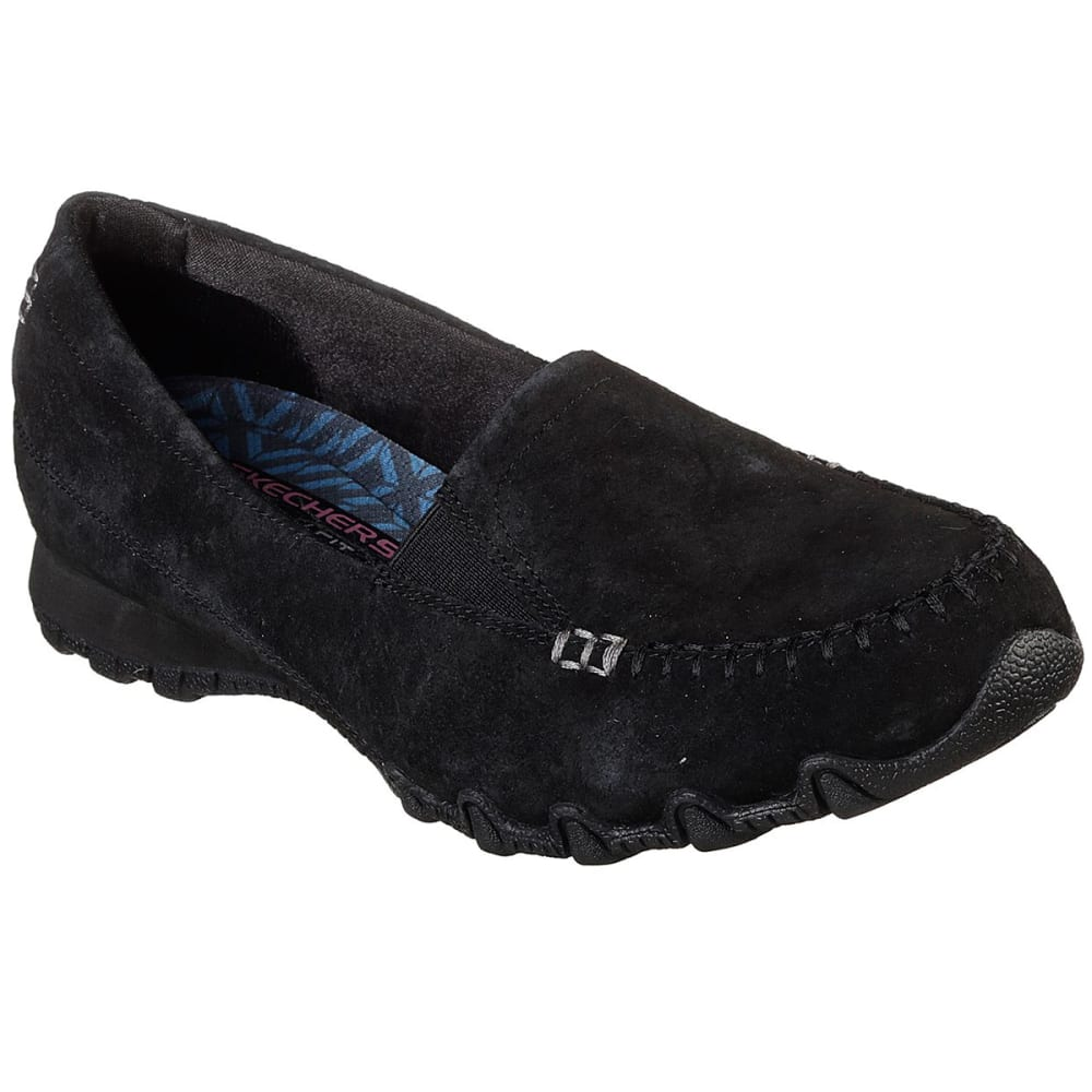 Skechers Women's Relaxed Fit: Bikers Wayfarer Casual Slip-On Shoes - Black, 7