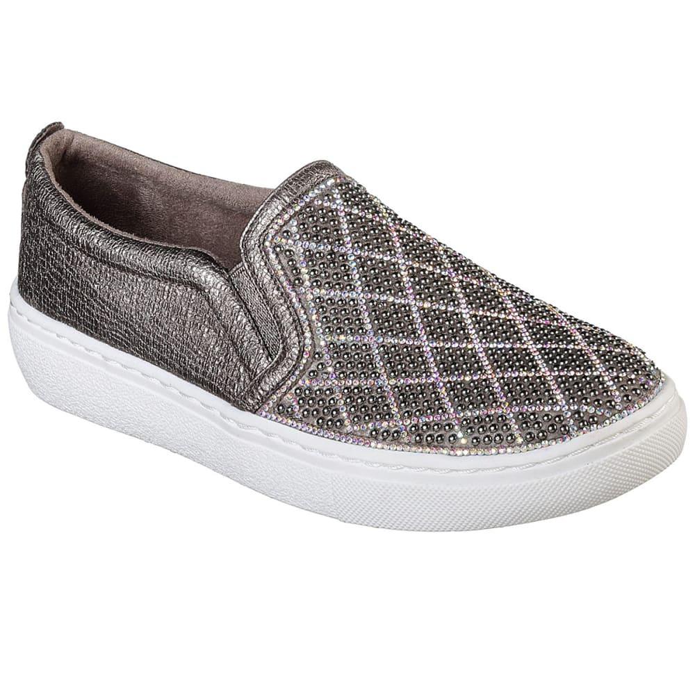 Skechers Women's Goldie - Diamond Darling Slip-On Sneakers - Black, 7.5