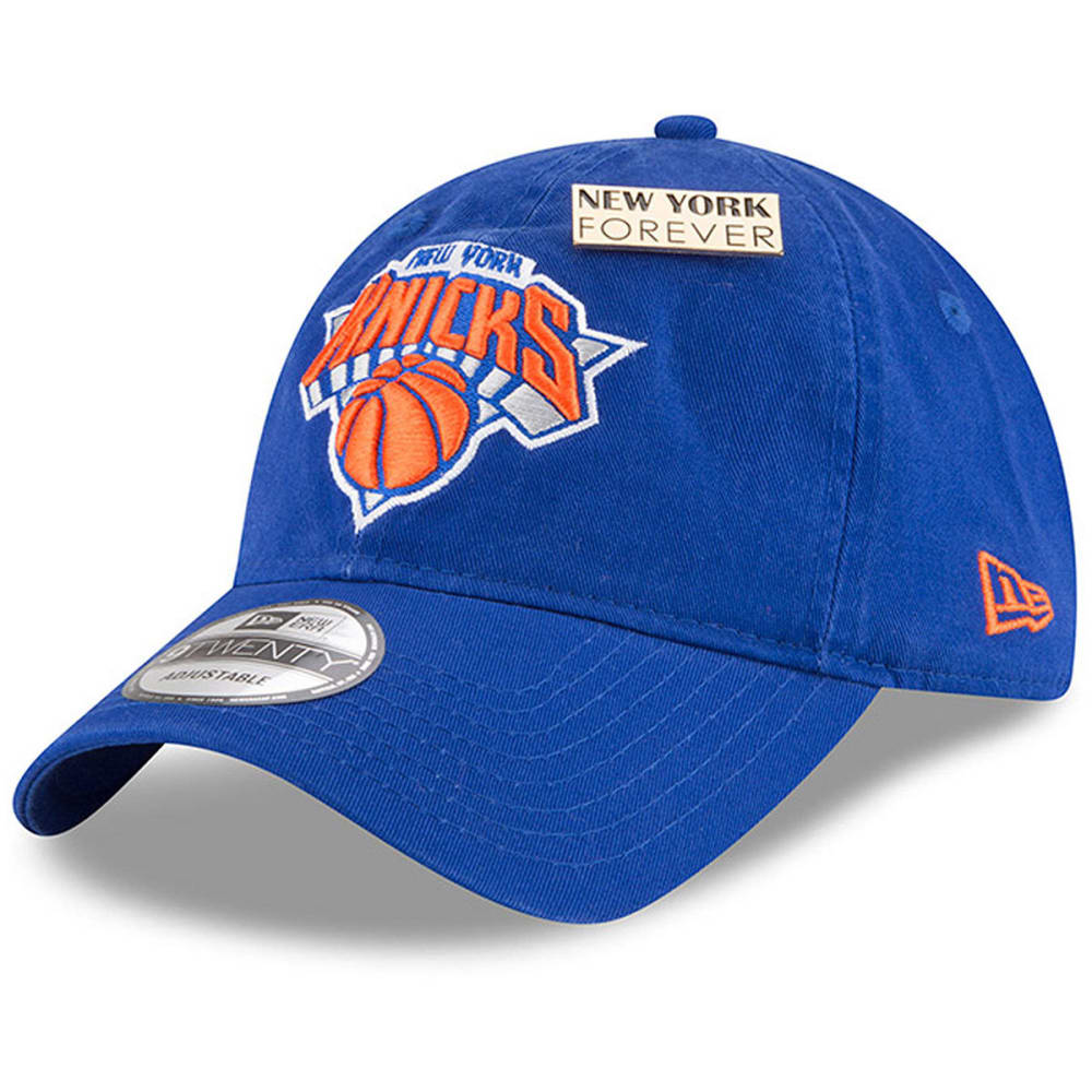 NEW YORK KNICKS Men's 2018 NBA Draft 9Twenty Adjustable Cap - ROYAL BLUE