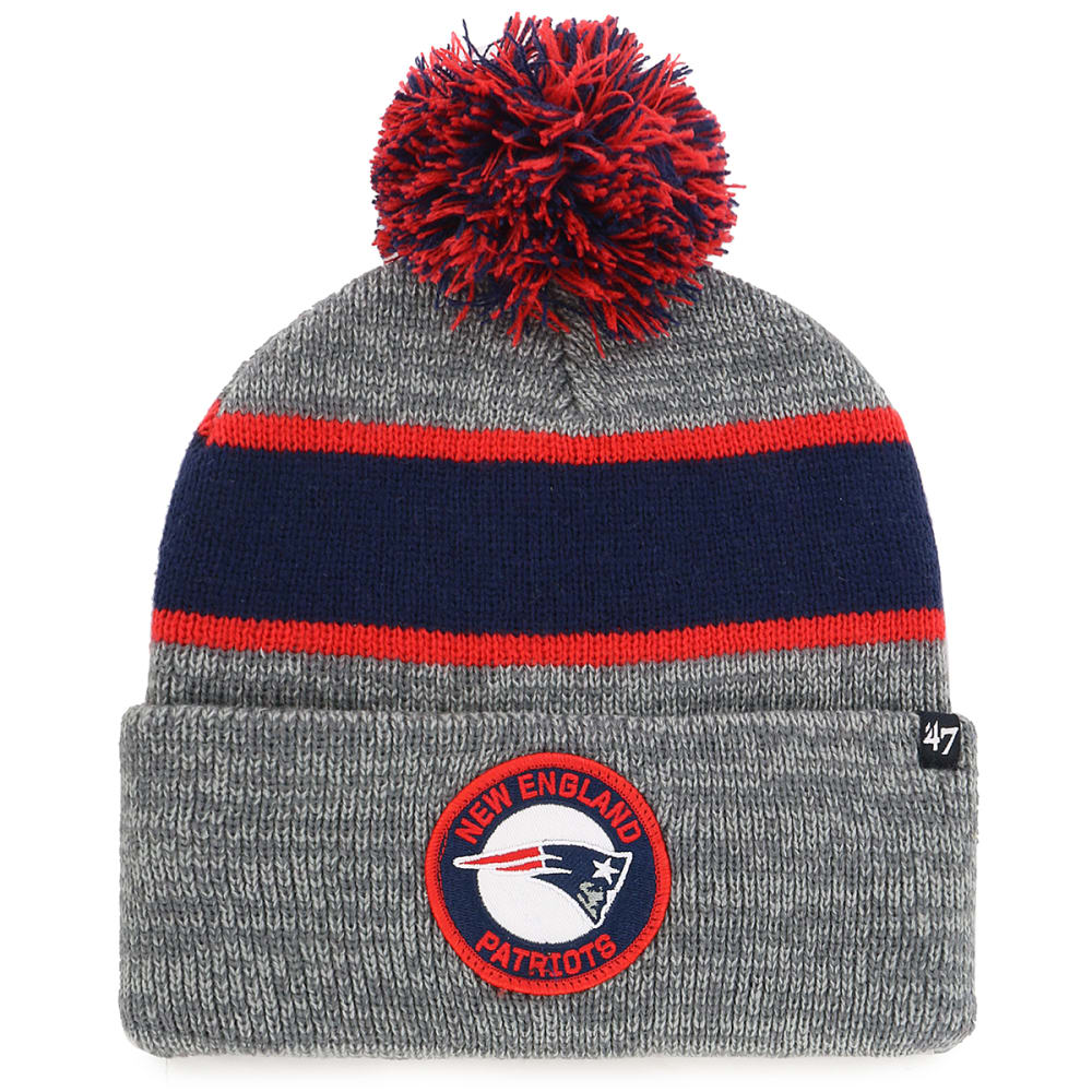 NEW ENGLAND PATRIOTS '47 Noreaster Cuffed Pom Knit Beanie - GREY