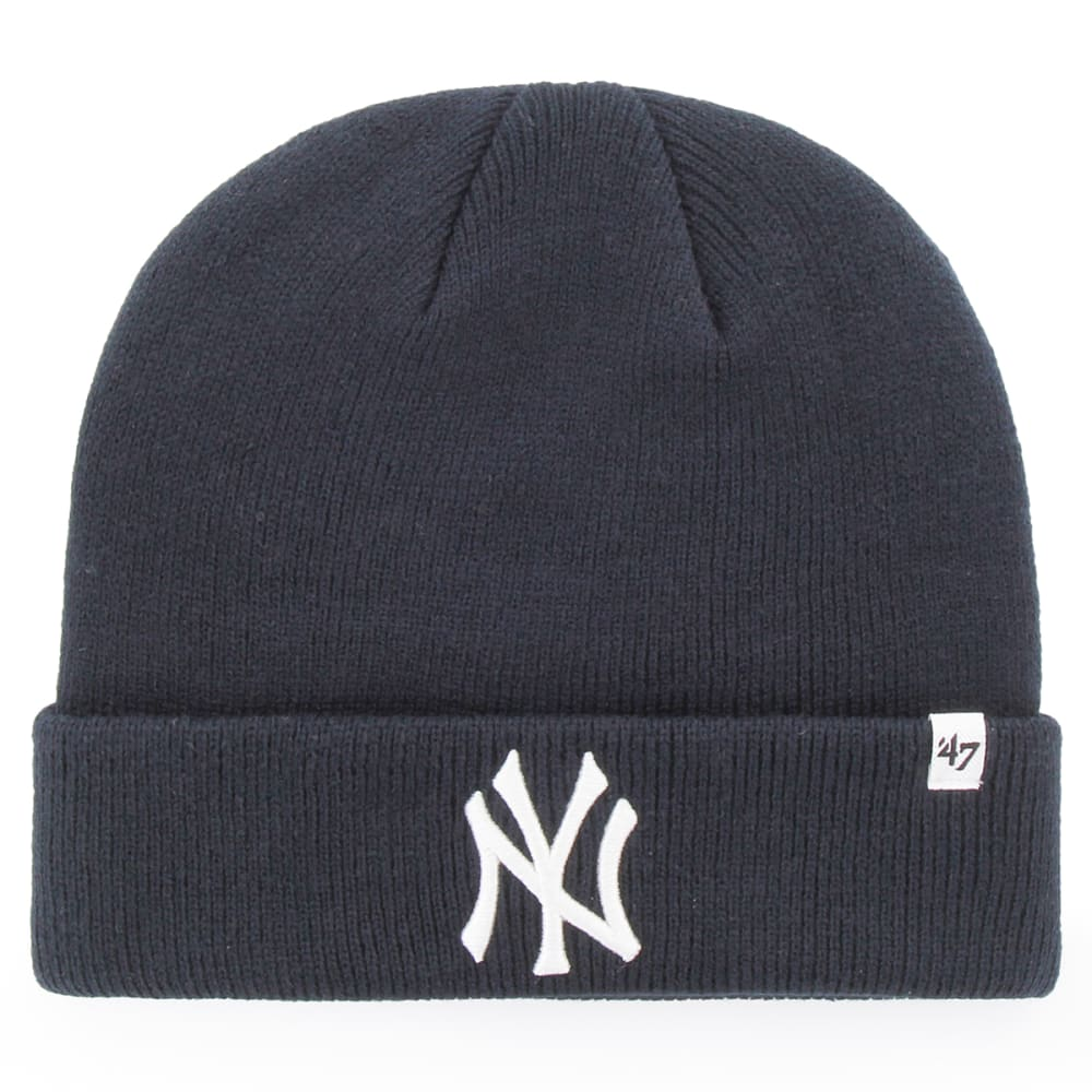 NEW YORK YANKEES Men's '47 Raised Cuffed Beanie - NAVY