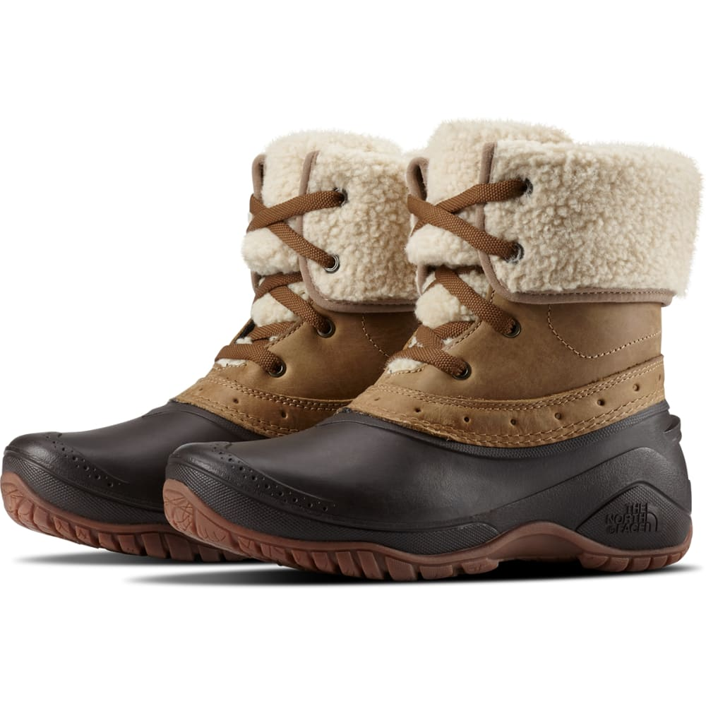 THE NORTH FACE Women's Shellista Roll-Down Waterproof Winter Boots - BROWN/COFFEE-8KM