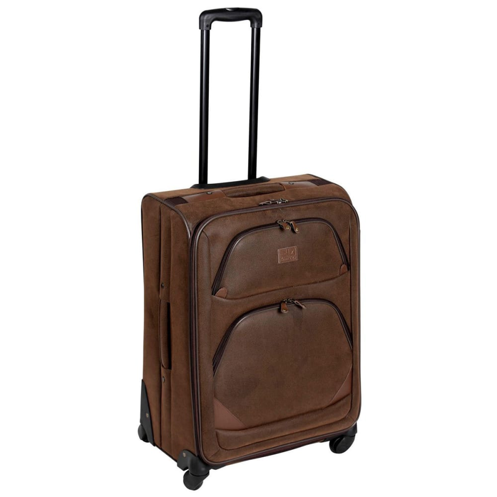 KANGOL 26 in. Four Wheeled Suitcase - BROWN