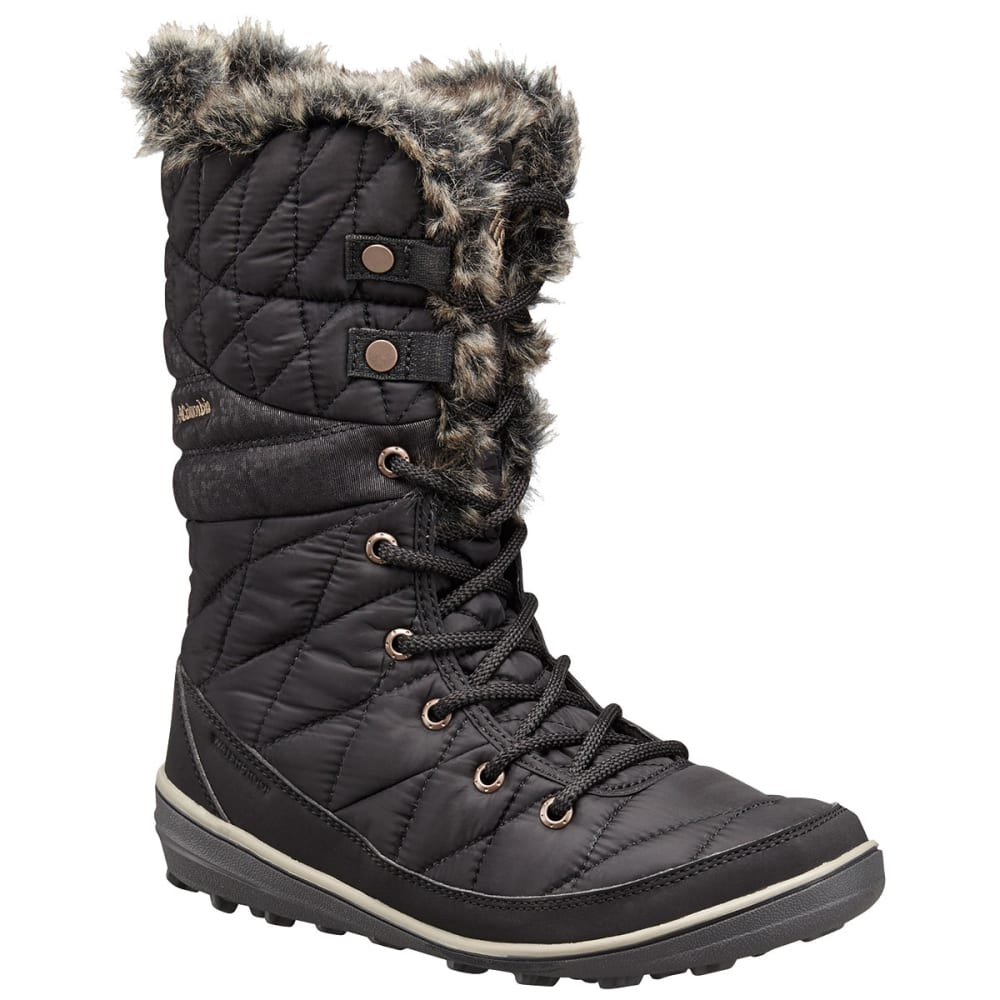 Columbia Women's Heavenly Omni-Heat Lace-Up Insulated Waterproof Storm Boots - Black, 7