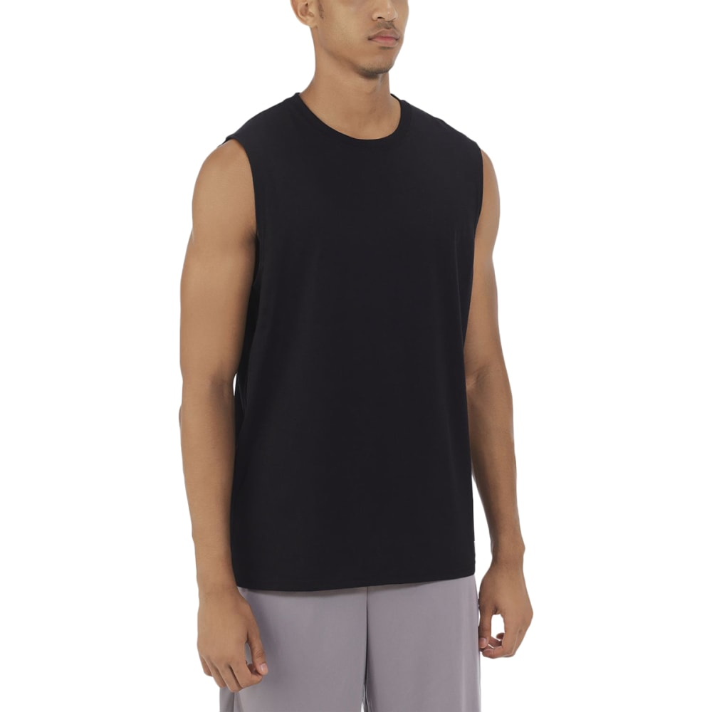 RUSSELL Men's Essential Sleeveless Muscle Tee - BLACK