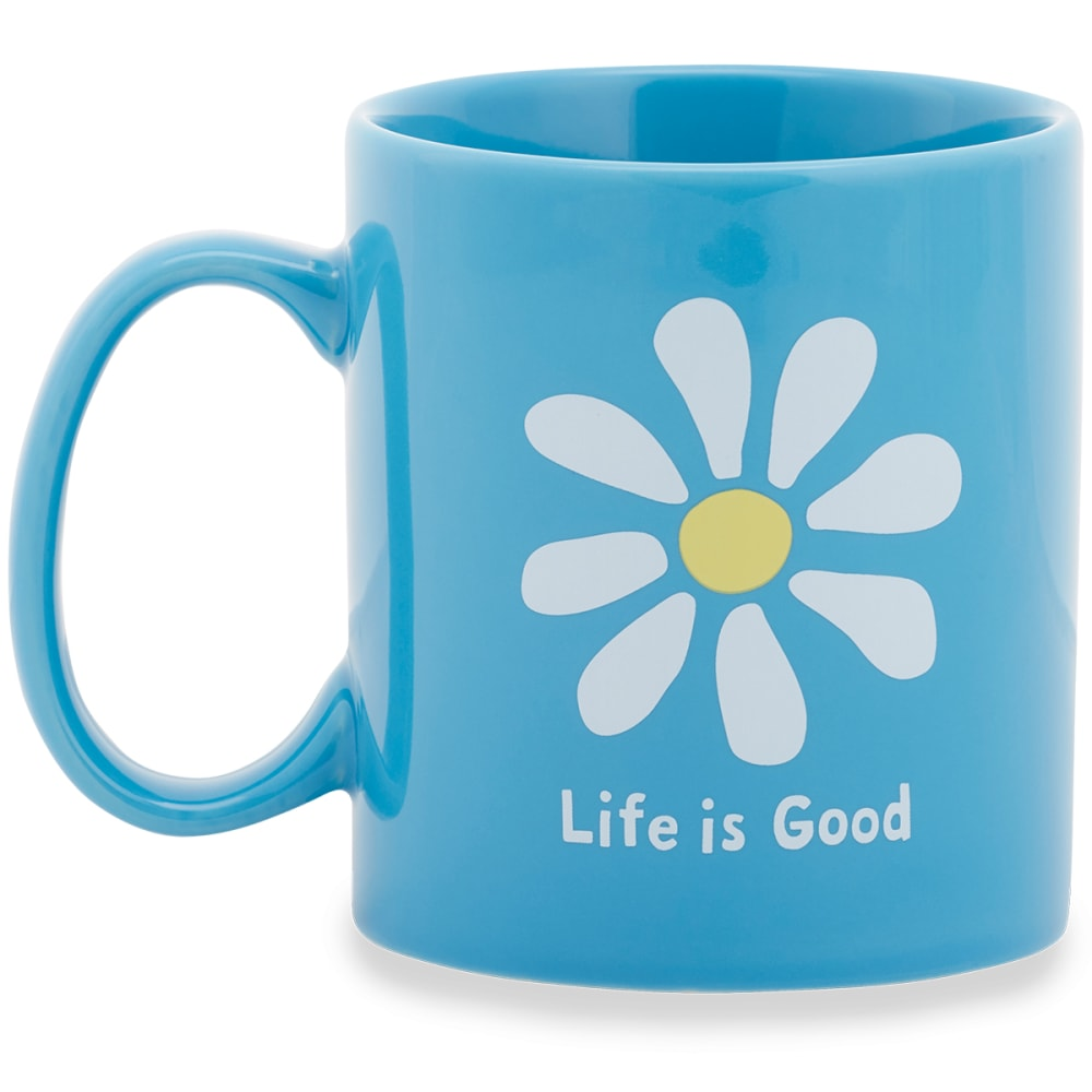 LIFE IS GOOD Daisy Jakes Mug - POWDER BLUE