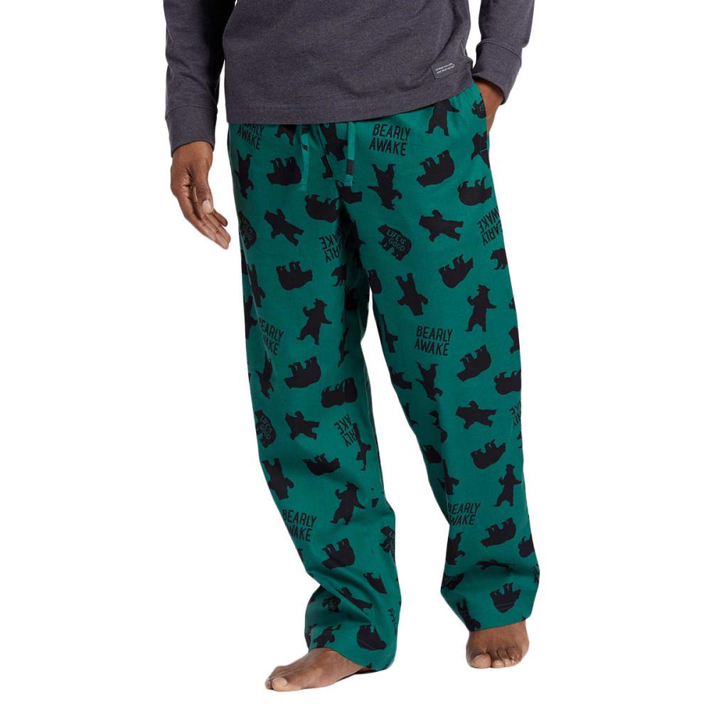 LIFE IS GOOD Men's Bearly Awake Classic Sleep Pants - FOREST GREEN