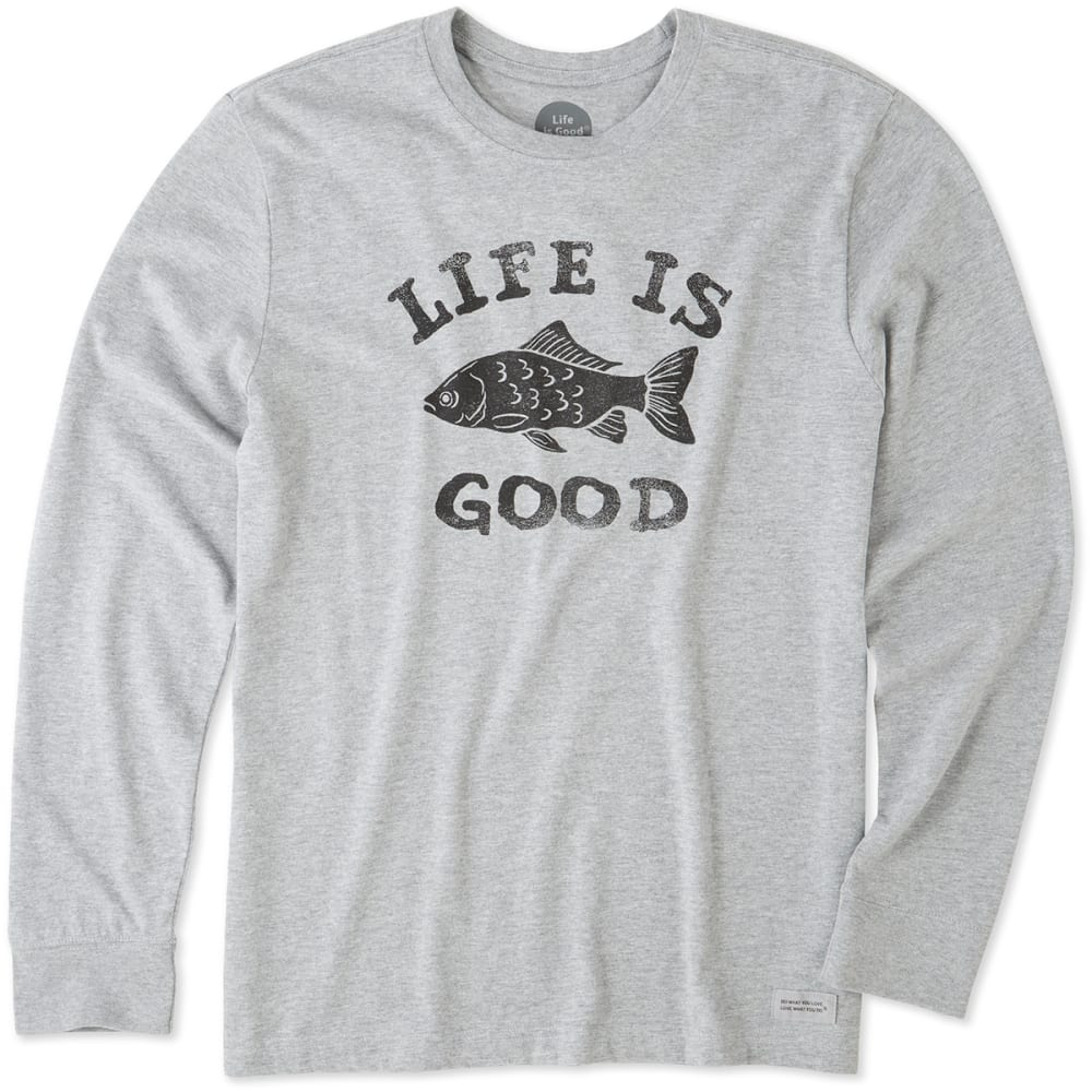 LIFE IS GOOD Men's LIG Fish Crusher Long-Sleeve Tee - OXFORD