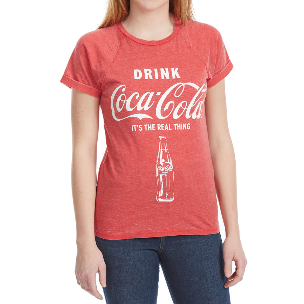 FREEZE Juniors' Screen-Burnout Coca-Cola Short-Sleeve Tee - RED