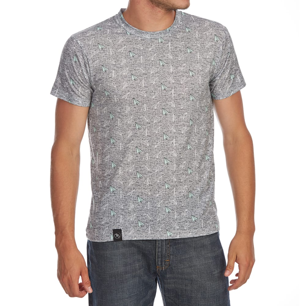BROOKLYN STANDARD Guys' Paper Planes All-Over Print Short-Sleeve Tee - GREY