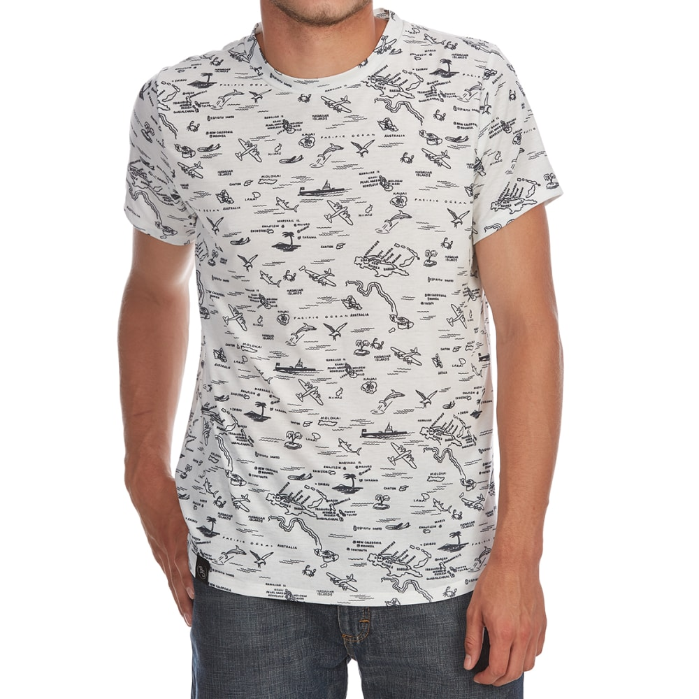 BROOKLYN STANDARD Guys' Map All-Over Print Short-Sleeve Tee - WHITE/BLACK