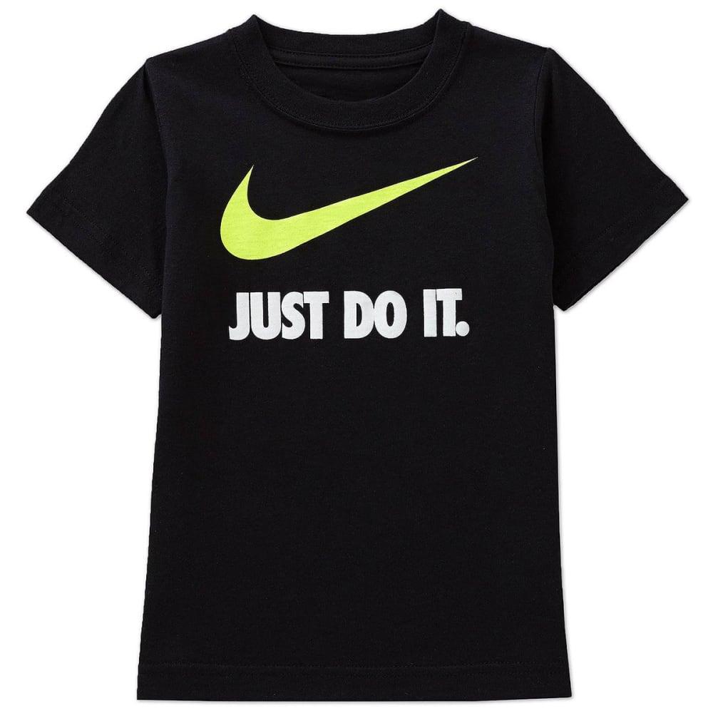 NIKE Little Boys' Just Do It Short-Sleeve Tee - BLACK/VOLT-KE4