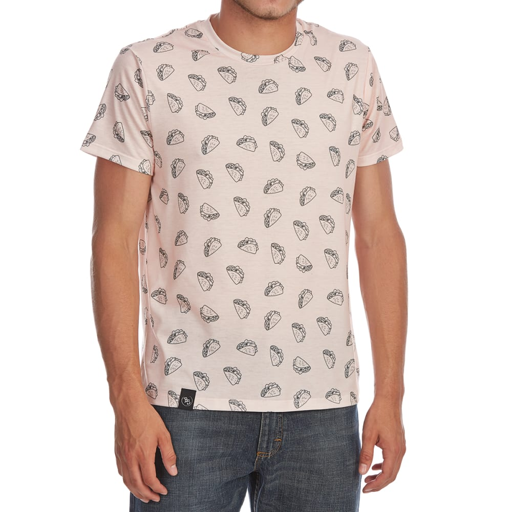 BROOKLYN STANDARD Guys' Taco All-Over Print Short-Sleeve Graphic Tee - PINK