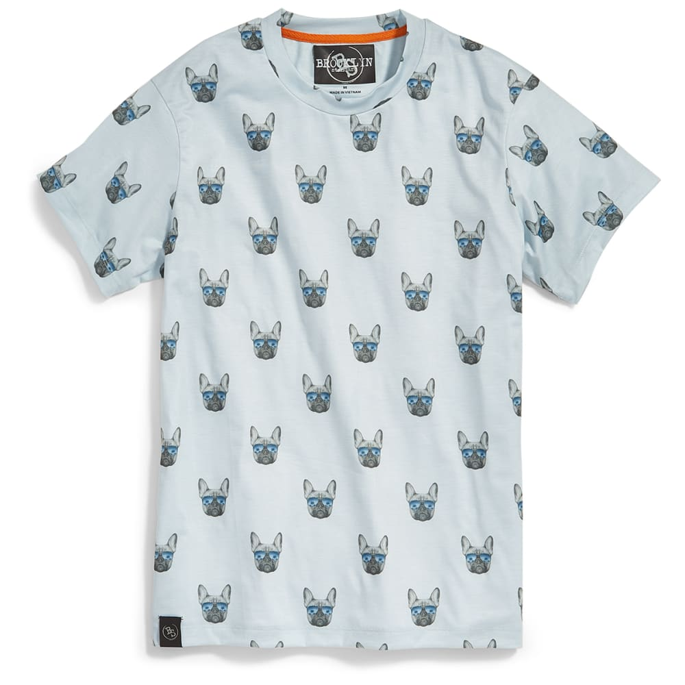 BROOKLYN STANDARD Guys' Bulldog in Sunglasses All-Over Print Short-Sleeve Graphic Tee - SKY BLUE
